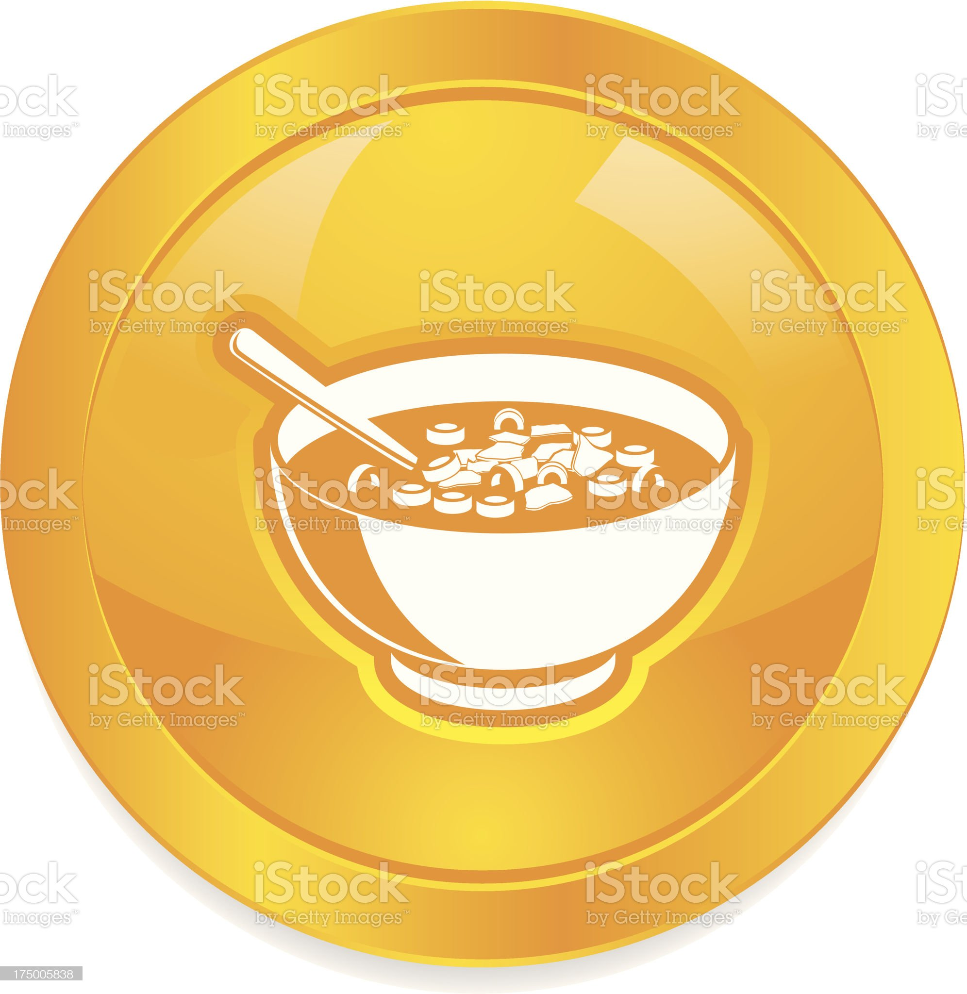 Bowl of Cereal button royalty-free stock vector art