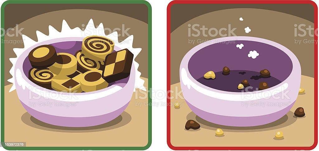 Bowl of christmas cookies (vector) royalty-free stock vector art