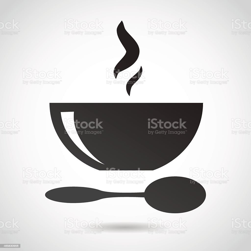 Bowl of soup icon. vector art illustration