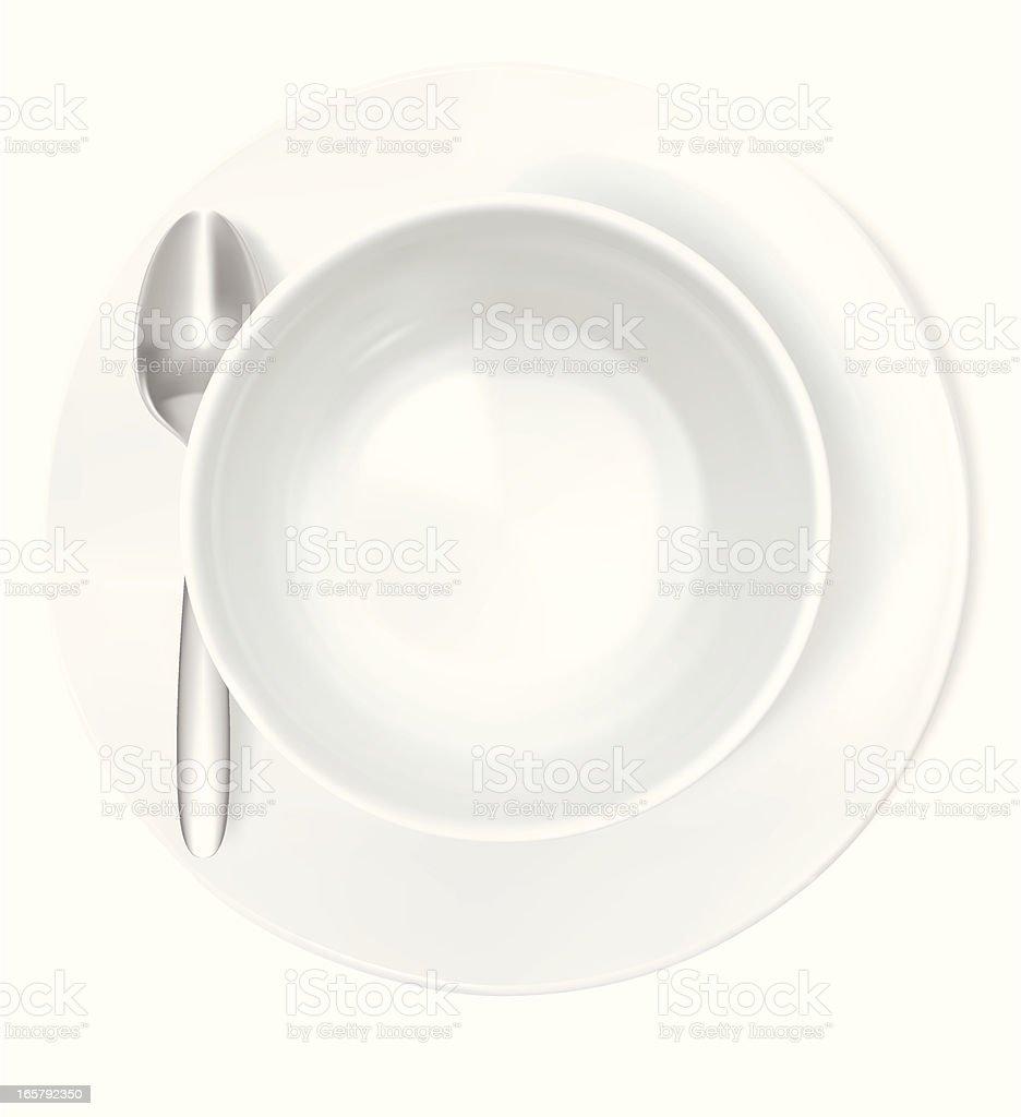 Bowl - Vector Illustration vector art illustration