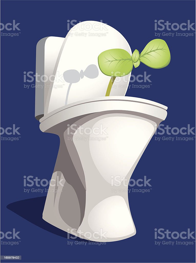 bowl with sprout royalty-free stock vector art