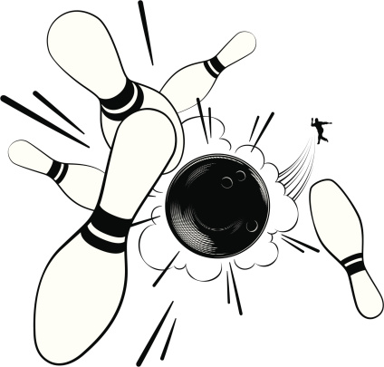 Bowling Pins Clip Art, Vector Images & Illustrations - iStock
