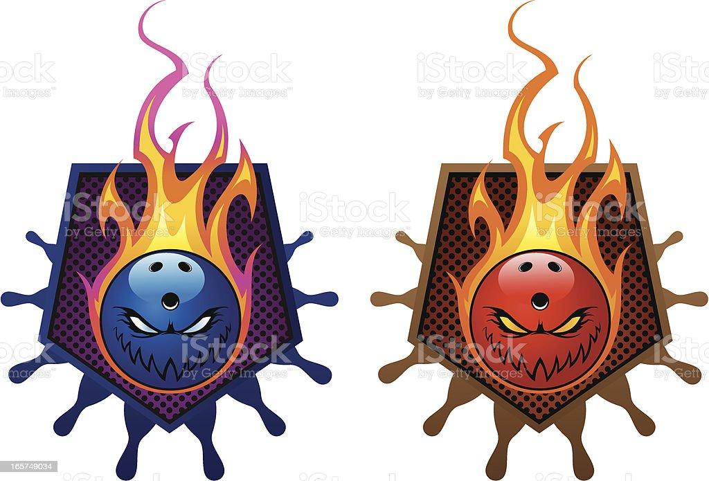 Bowling emblem royalty-free stock vector art
