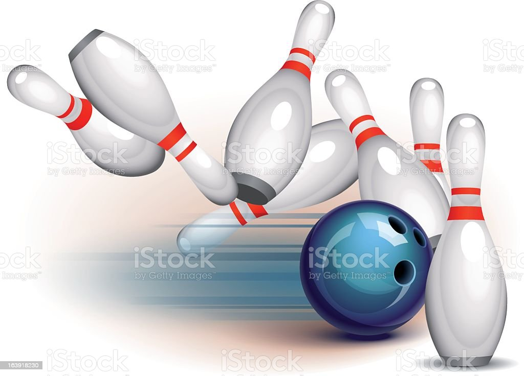 Bowling Game (side view) royalty-free stock vector art