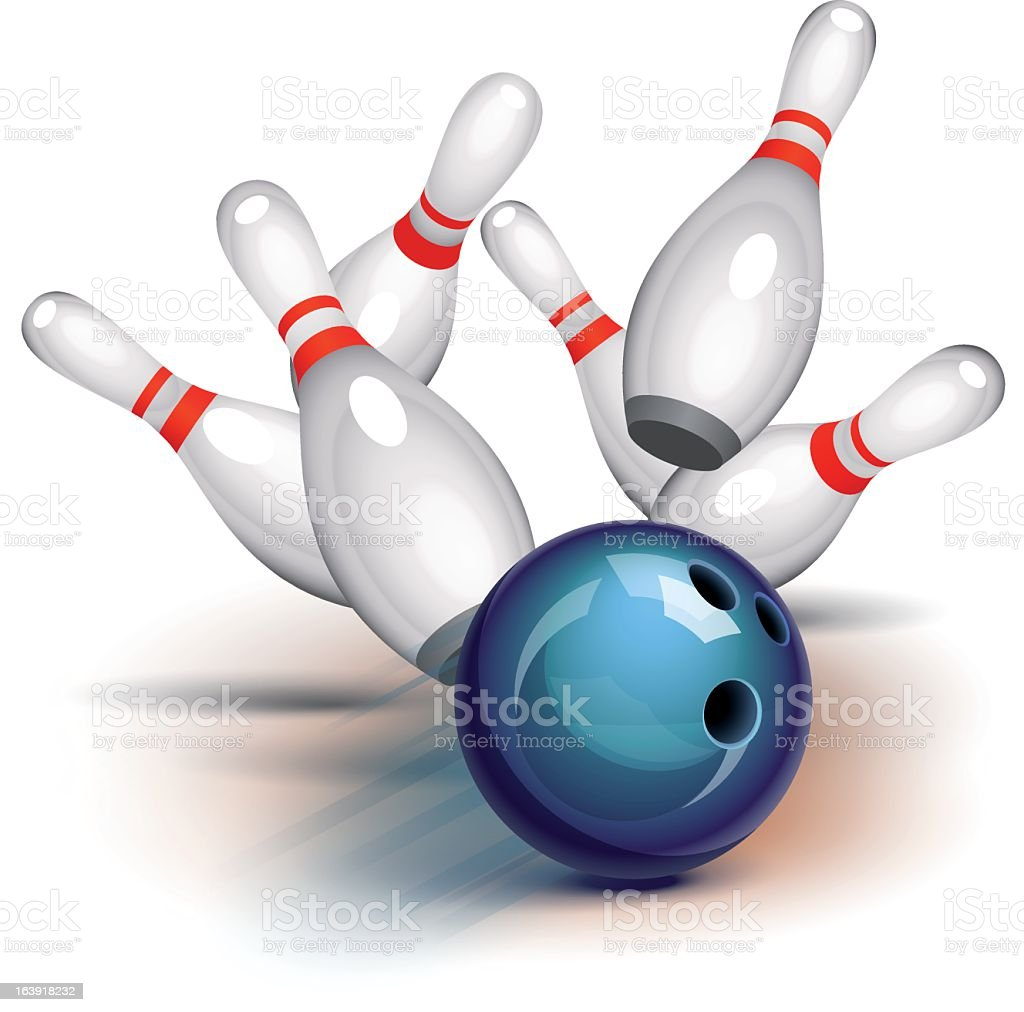 Bowling Game (front view) royalty-free stock vector art