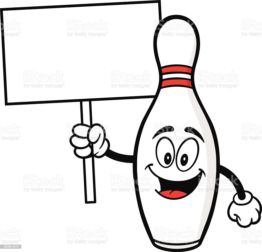 bowling pin with trophy stock vector art 523944263 istock