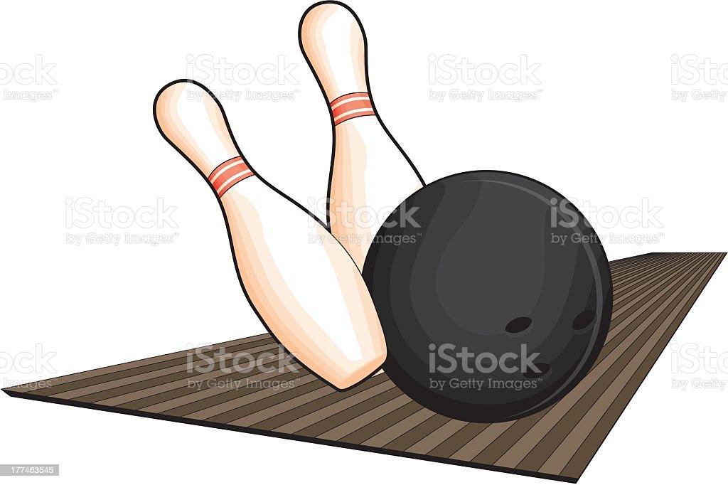 Bowling Pins And Ball royalty-free stock vector art