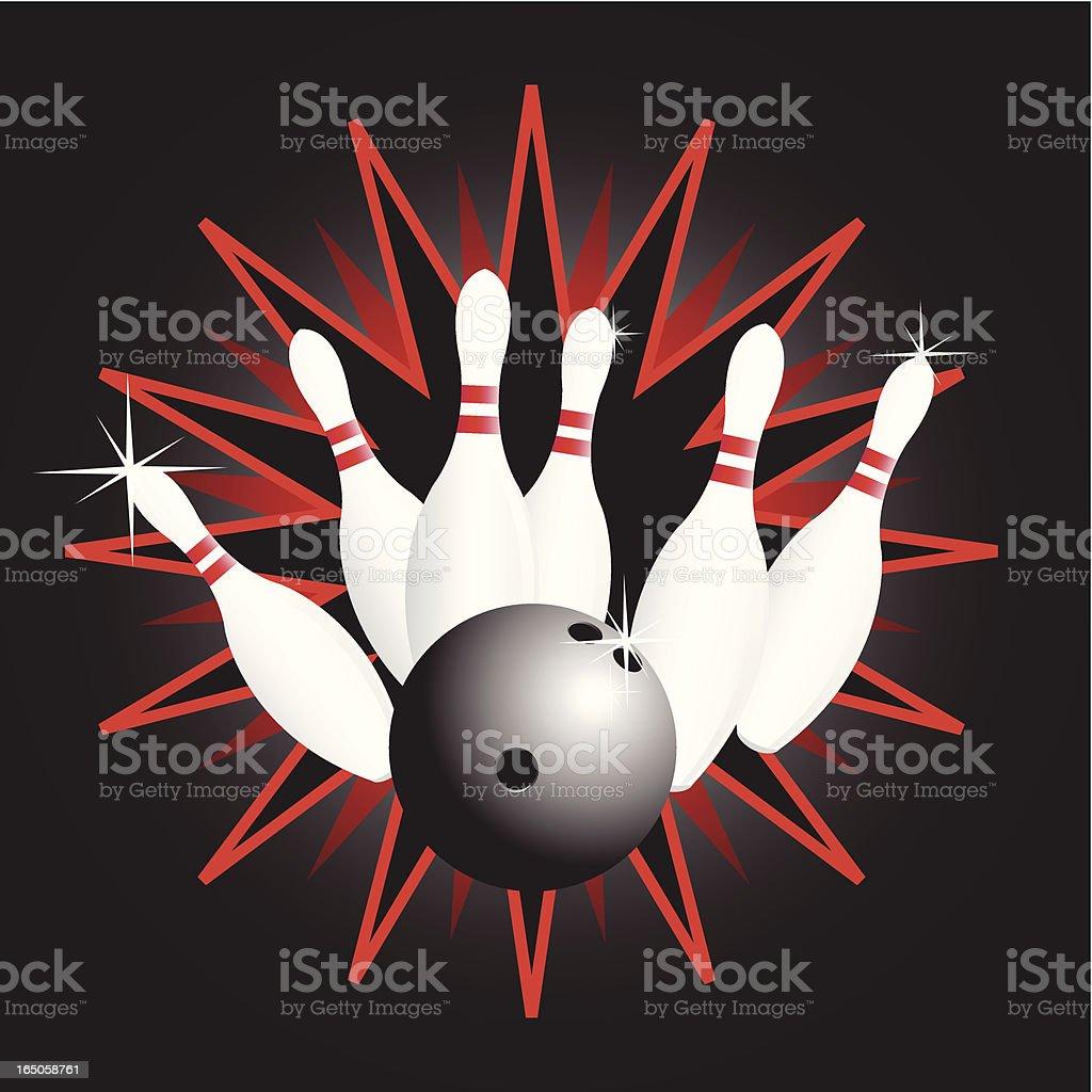 bowling set royalty-free stock vector art