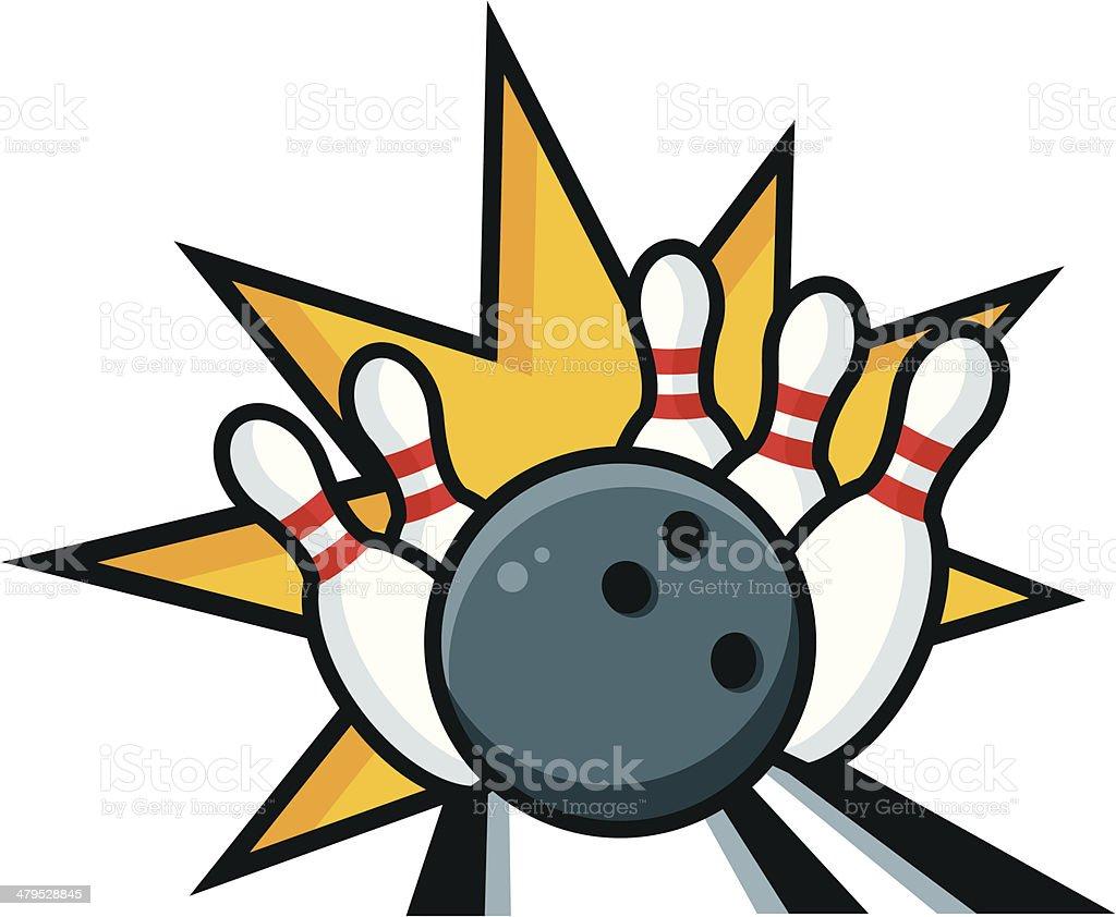 Bowling Strike royalty-free stock vector art