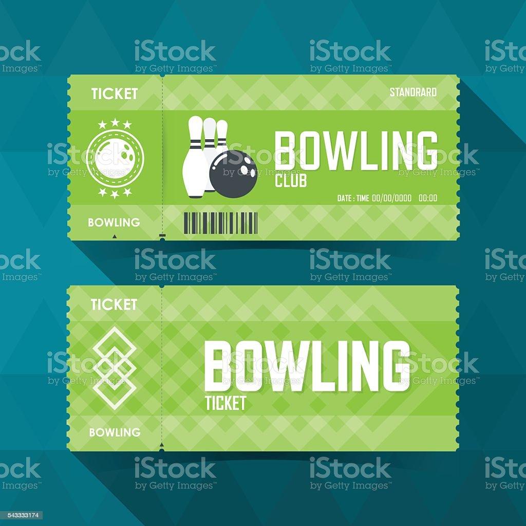 Bowling Ticket Card modern element design. vector illustration vector art illustration