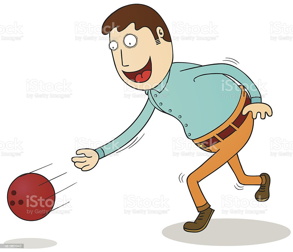 bowling time royalty-free stock vector art