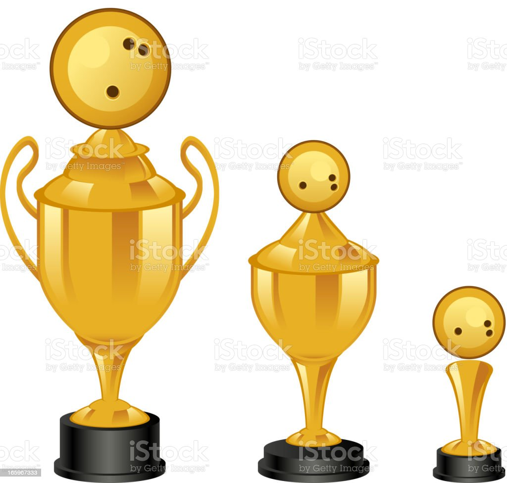 Bowling trophy royalty-free stock vector art