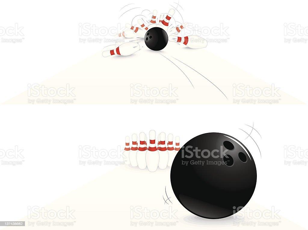 Bowling royalty-free stock vector art