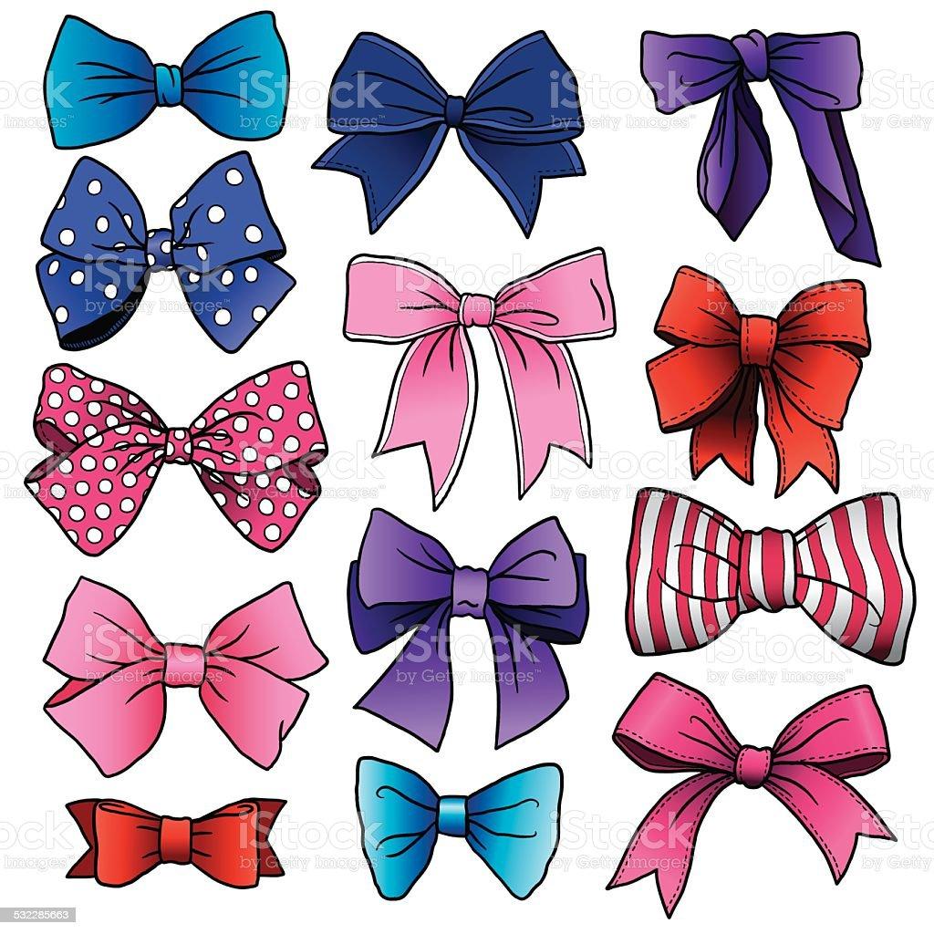 Bows and Ribbons vector art illustration