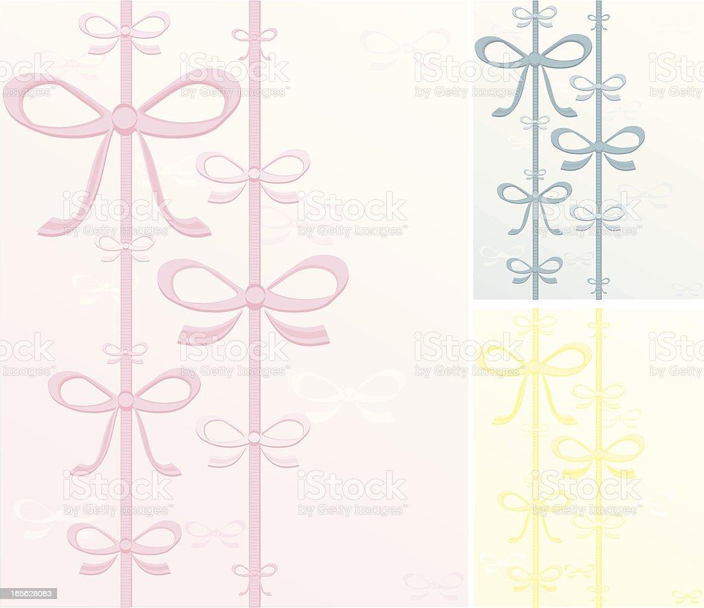 Schleifen Hintergrund Set-Rosa, Blau, Gelb Lizenzfreies vektor illustration
