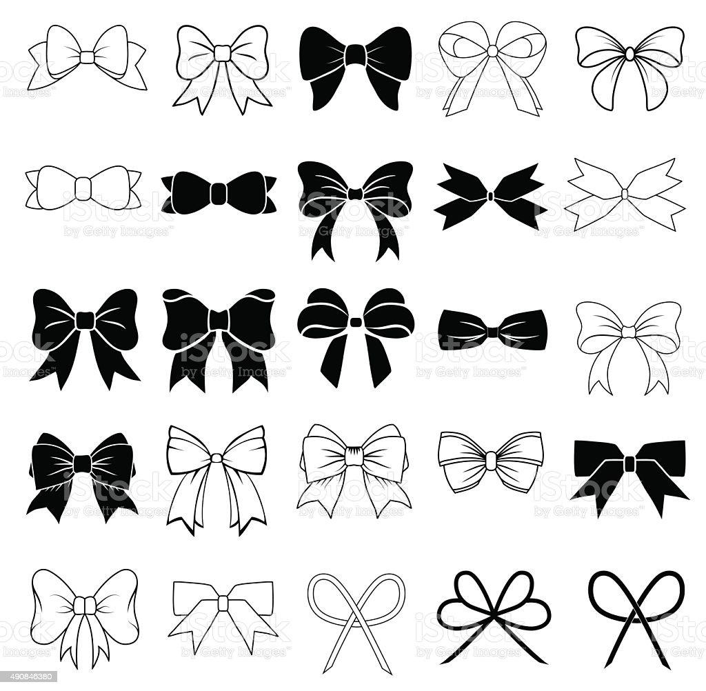 Bows vector art illustration