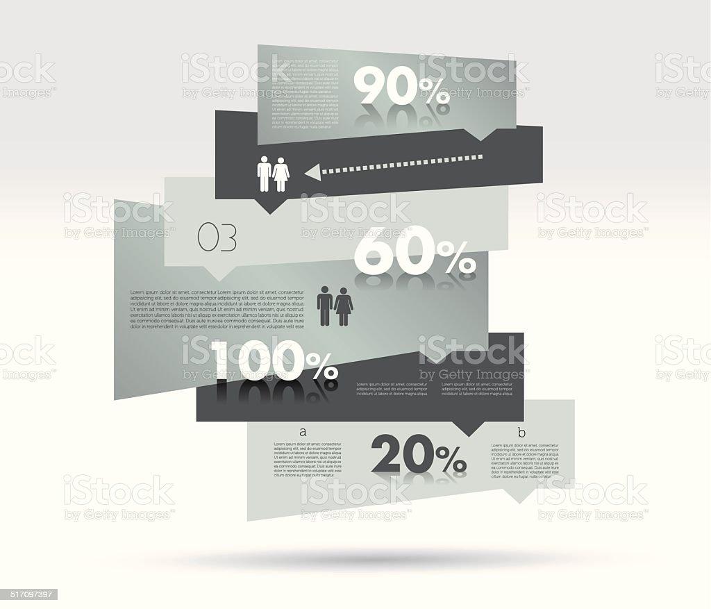 Box diagram, template. Infographics module scheme. vector art illustration
