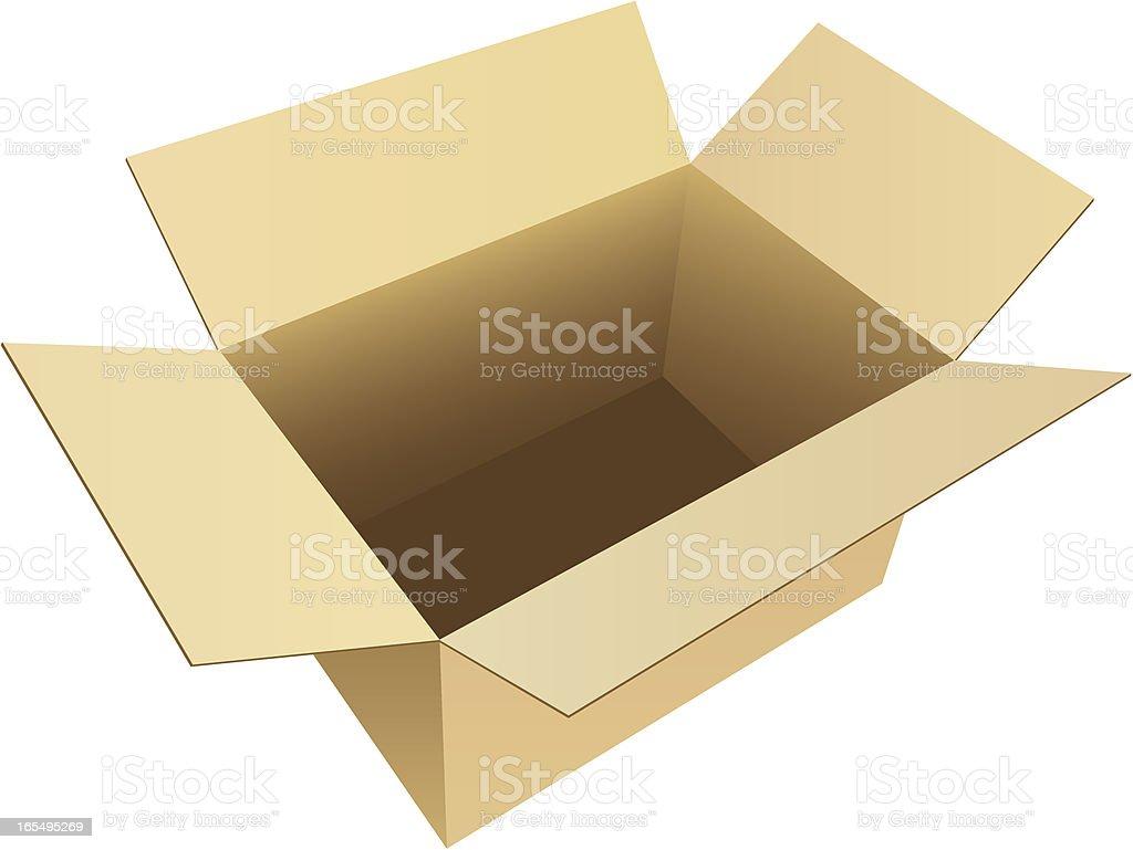 Box Empty Cardboard royalty-free stock vector art