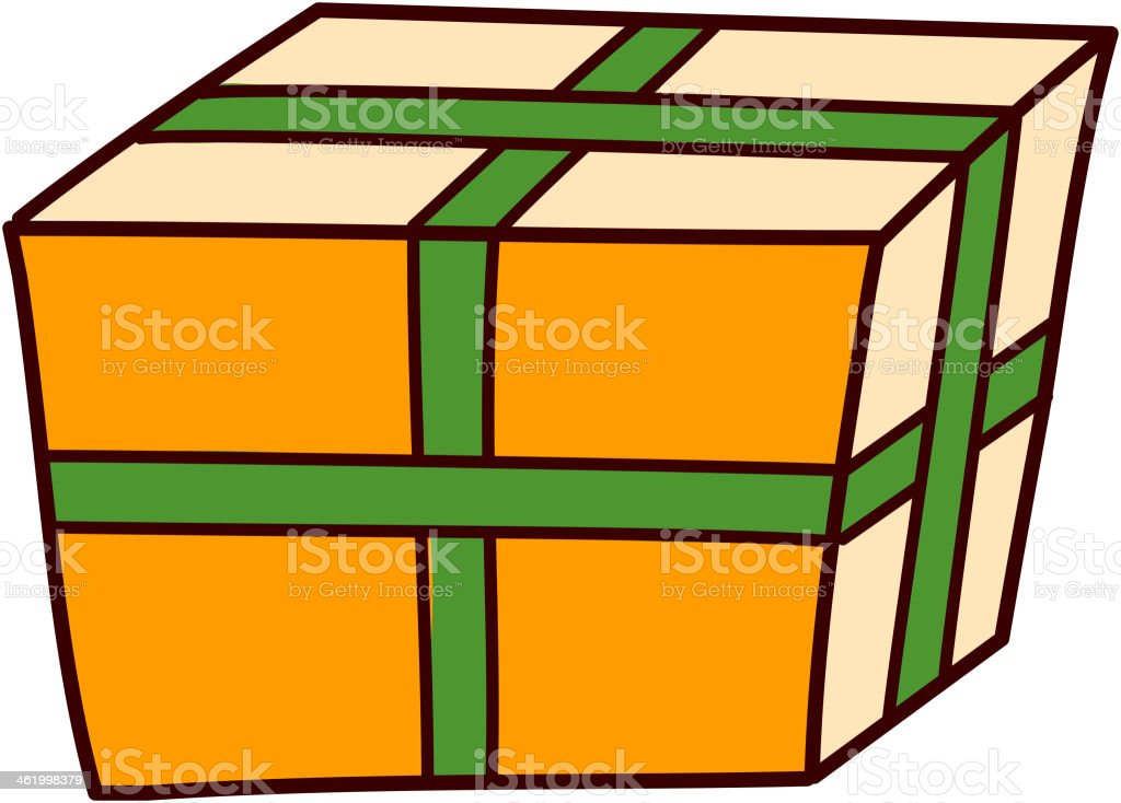 Box is placed royalty-free stock vector art