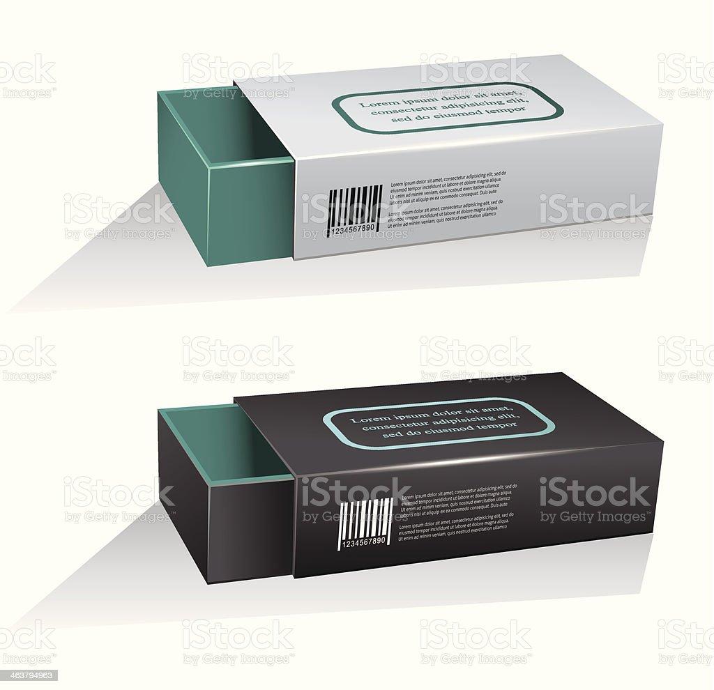 box mock-up vector art illustration