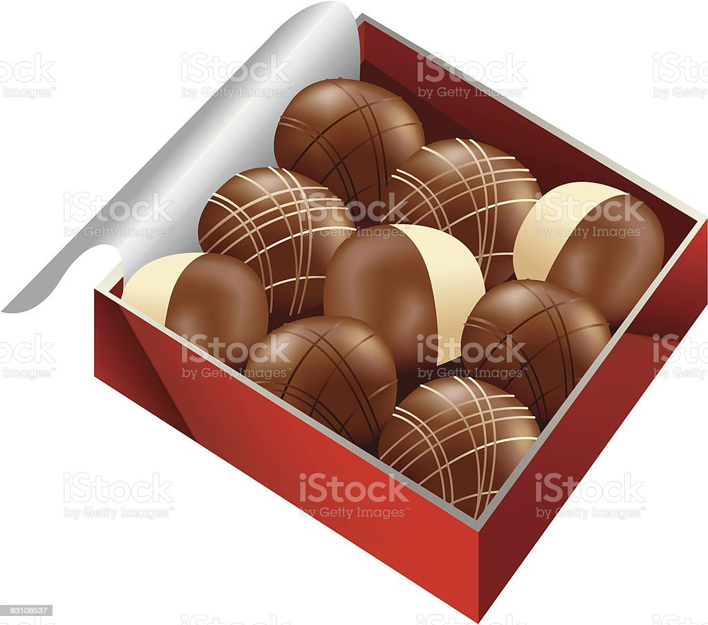 box of chocolate royalty-free stock vector art