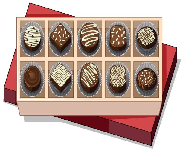 Silhouette Of The Empty Chocolate Box Clip Art, Vector Images ...