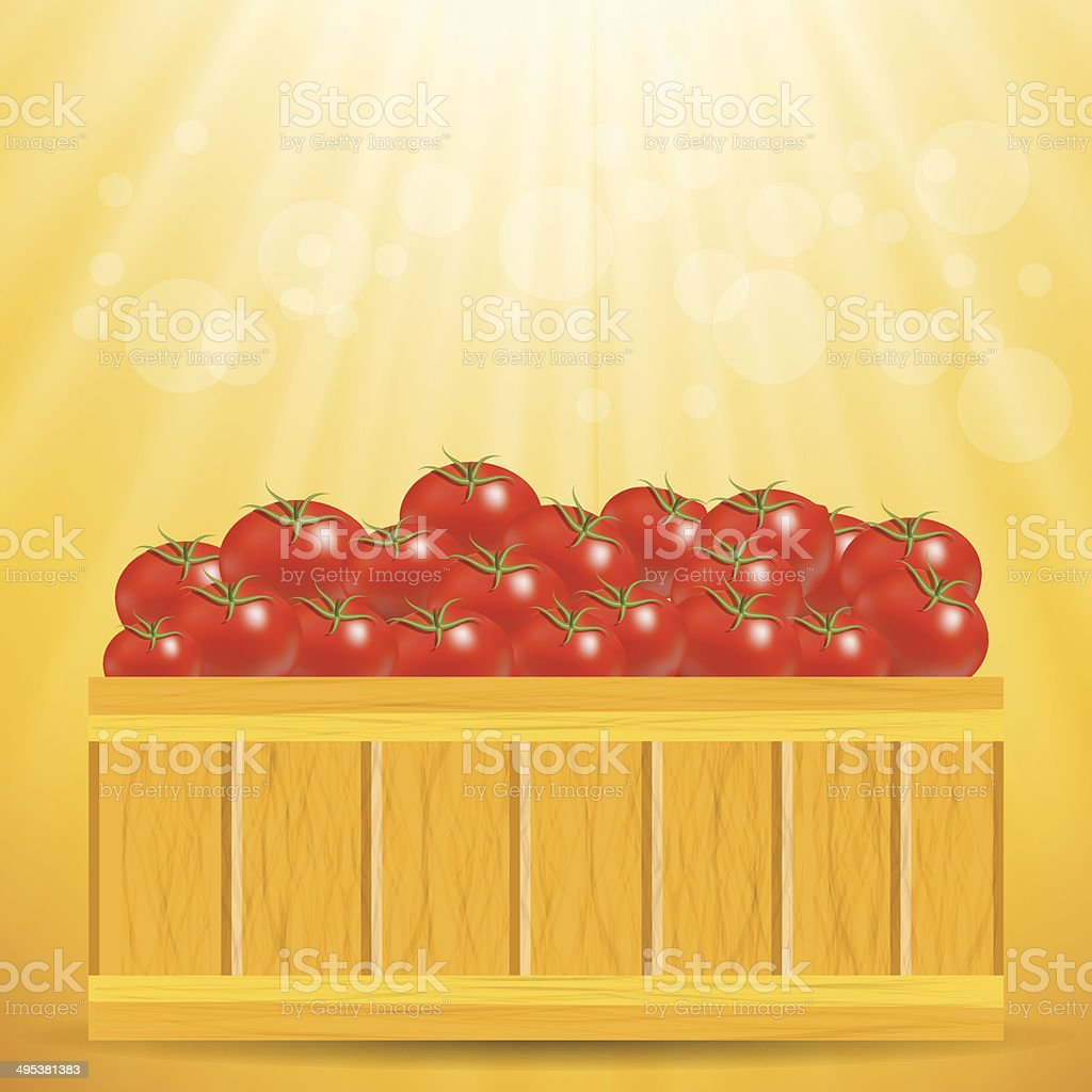 box of tomatoes royalty-free stock vector art