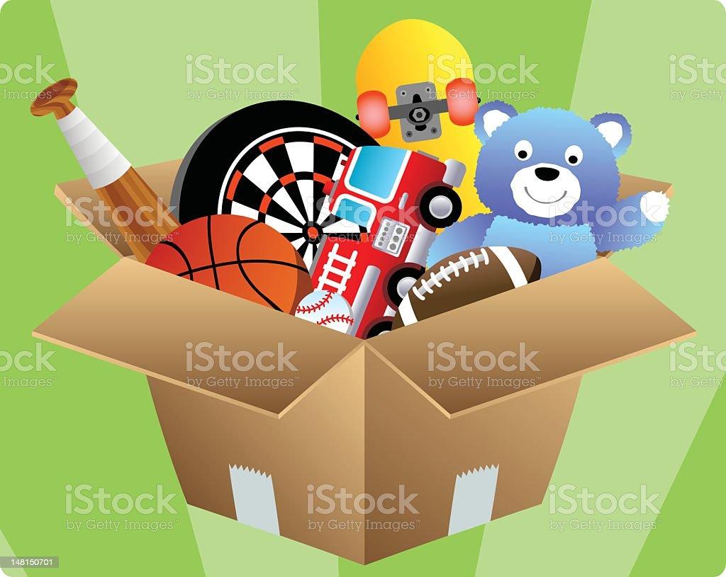 Box of Toys stock photo