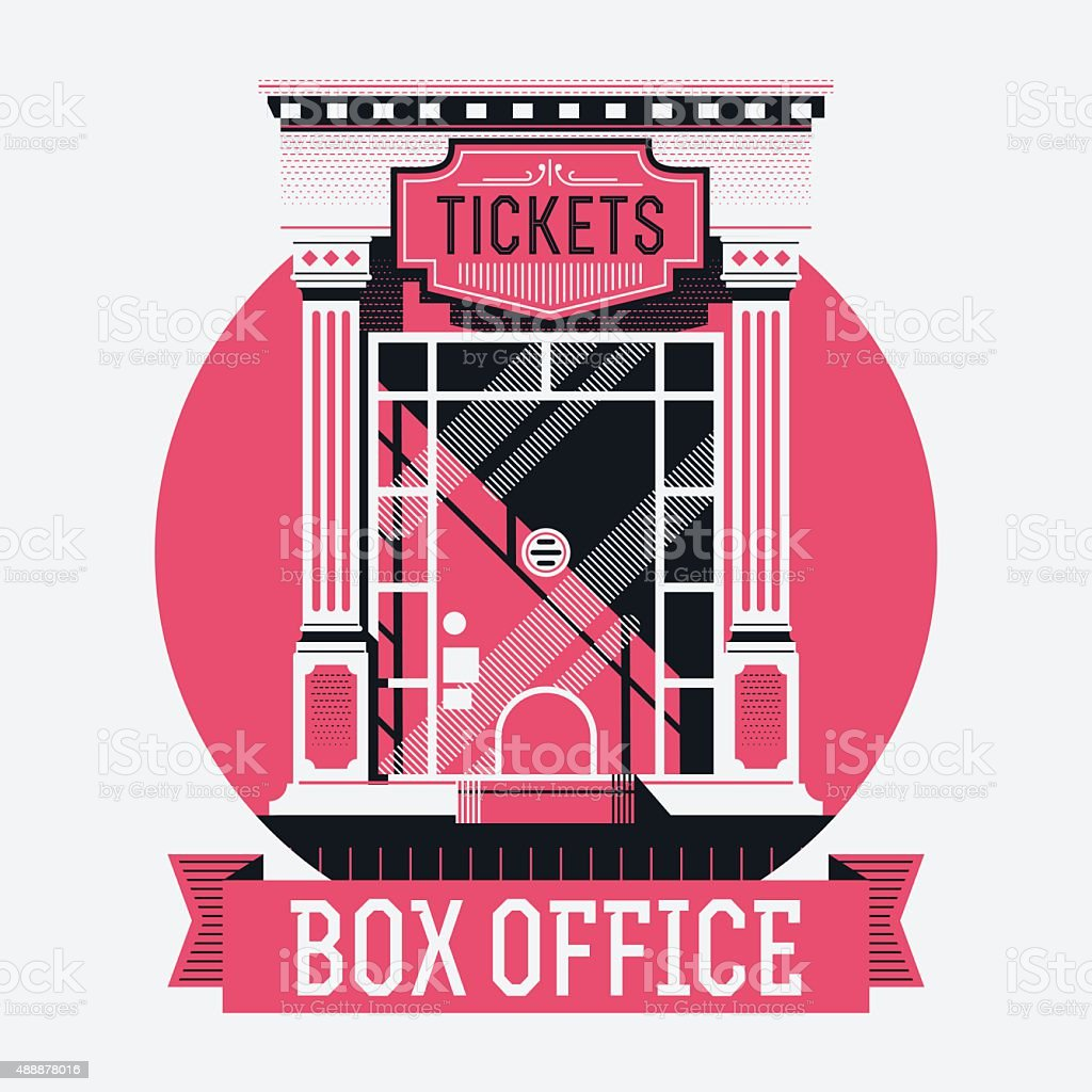 Box office concept illustration vector art illustration