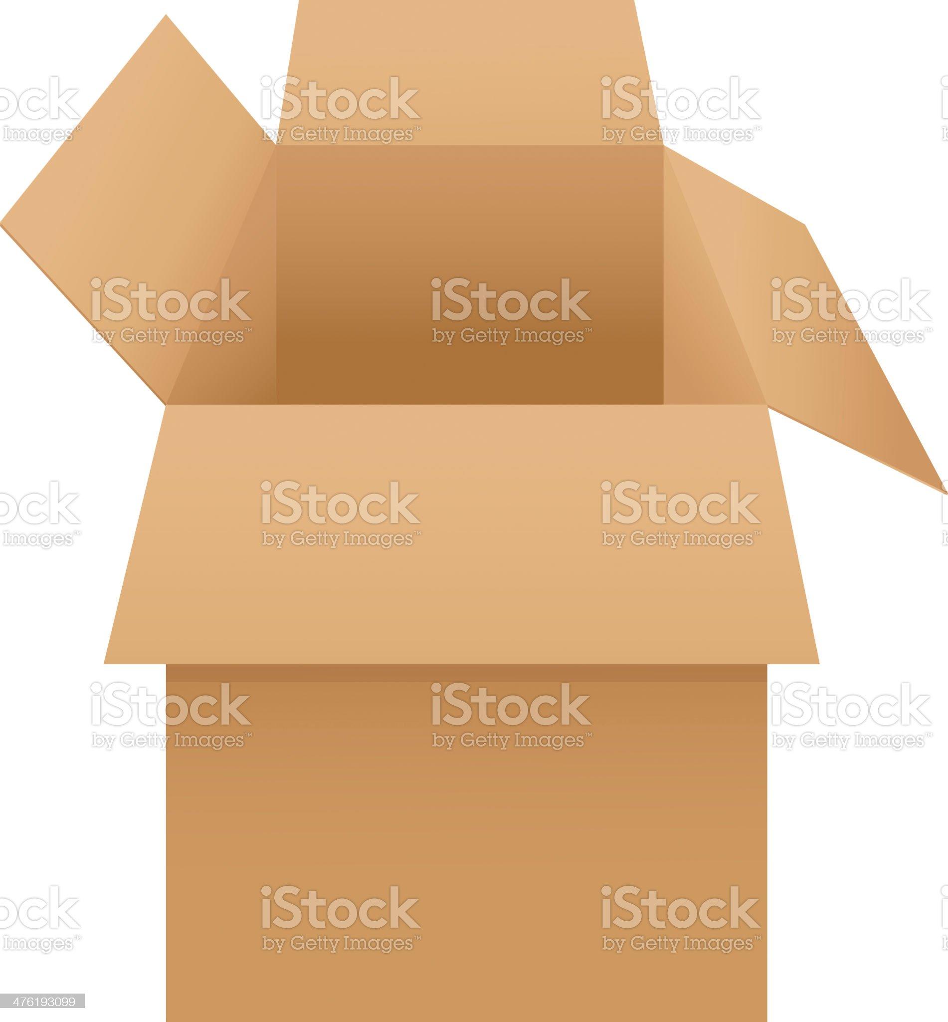Box on white royalty-free stock vector art