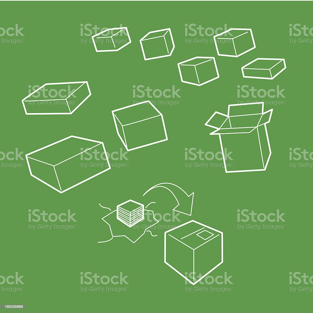 Box Packaging & re-packaging (Vector) royalty-free stock vector art
