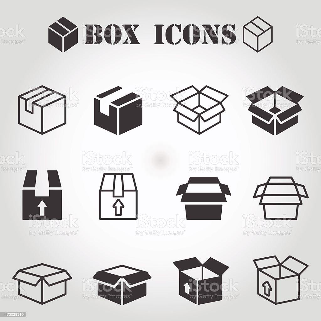 Box pictogram vector art illustration