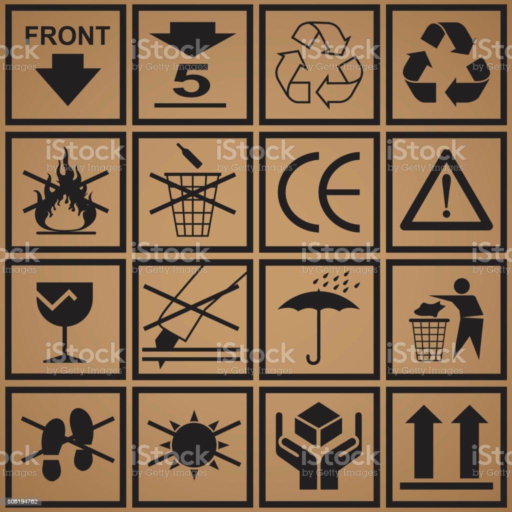 Box Sign Warning vector art illustration