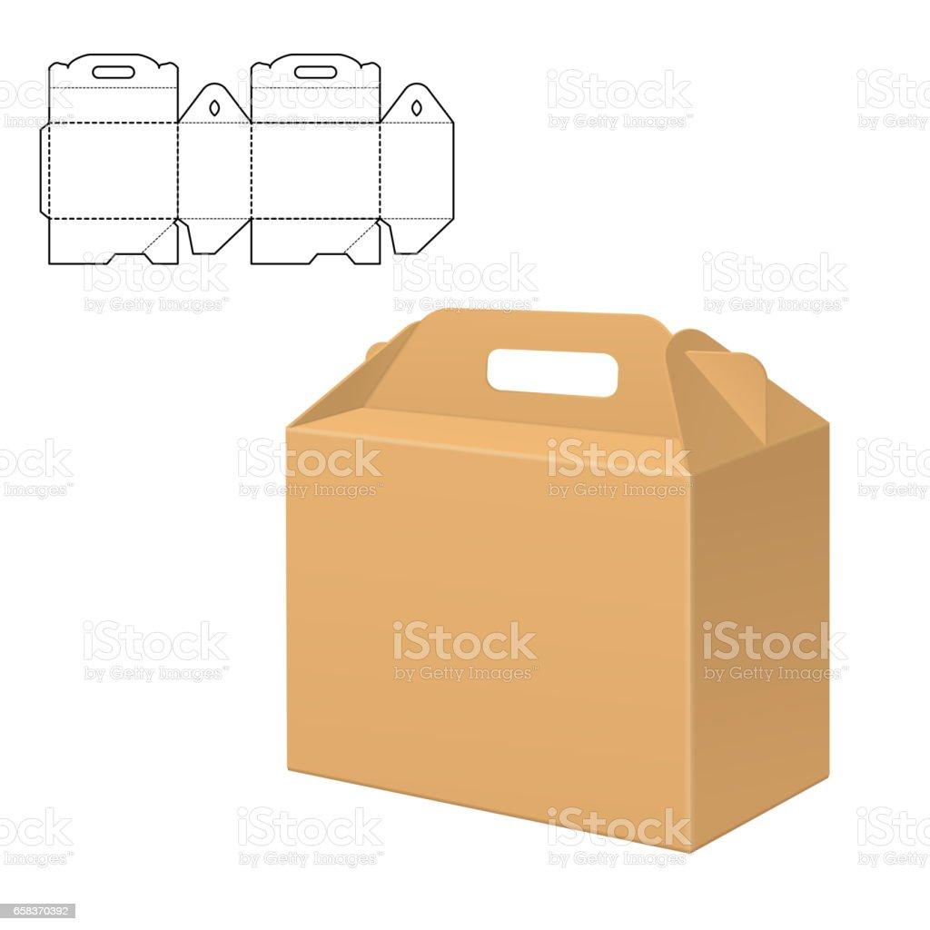 Box Template vector vector art illustration