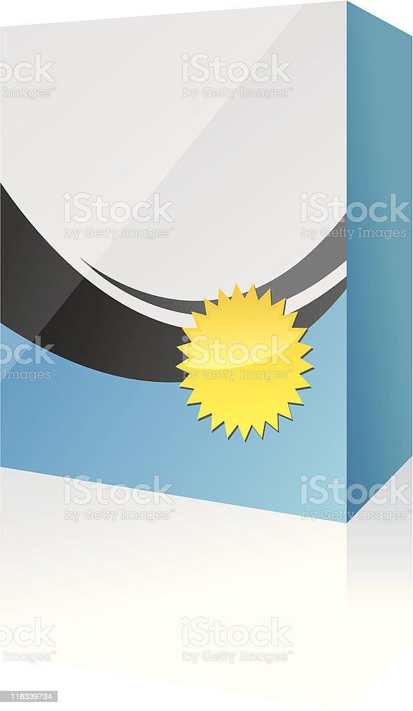 box with badge vector art illustration