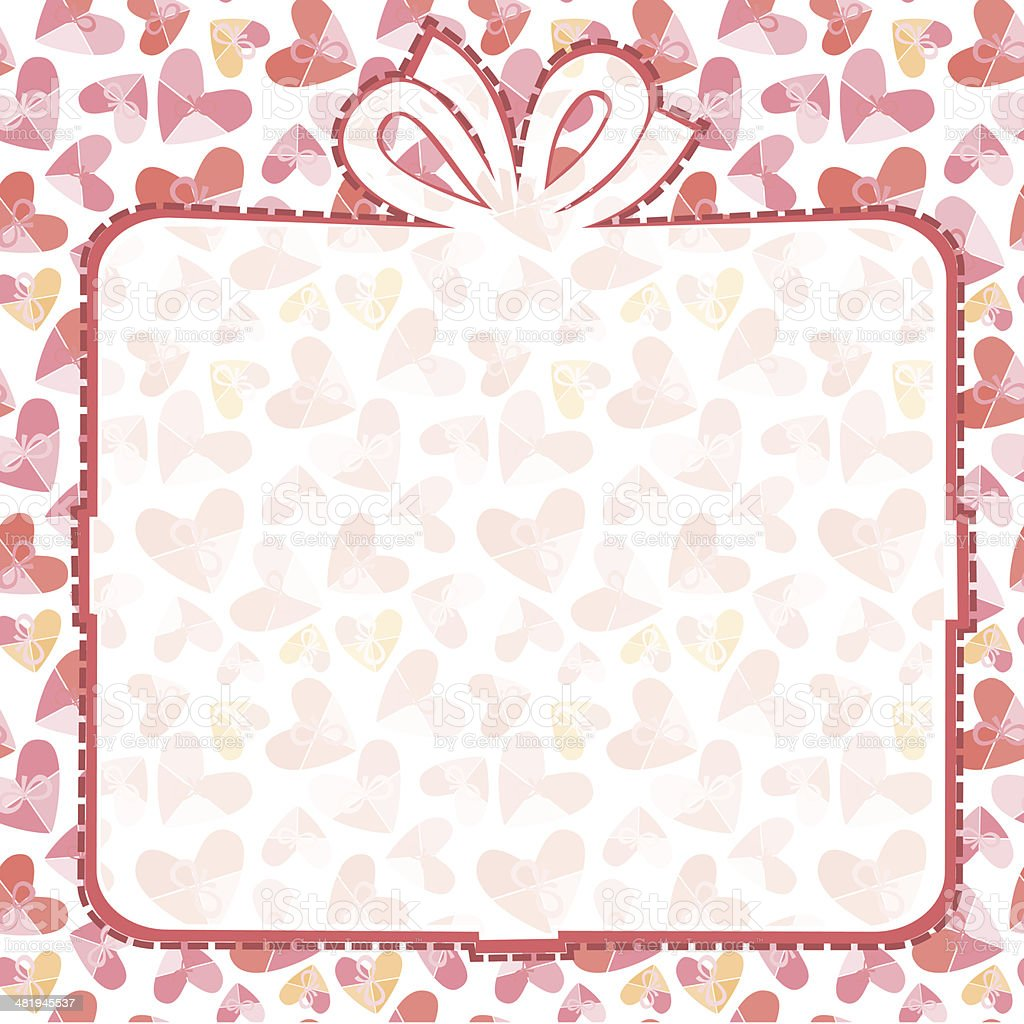 Box With  Pink Hearts royalty-free stock vector art
