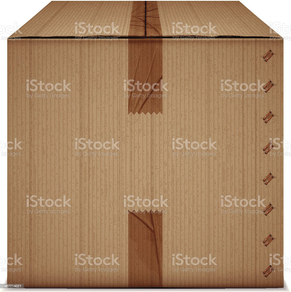 box with tape vector art illustration