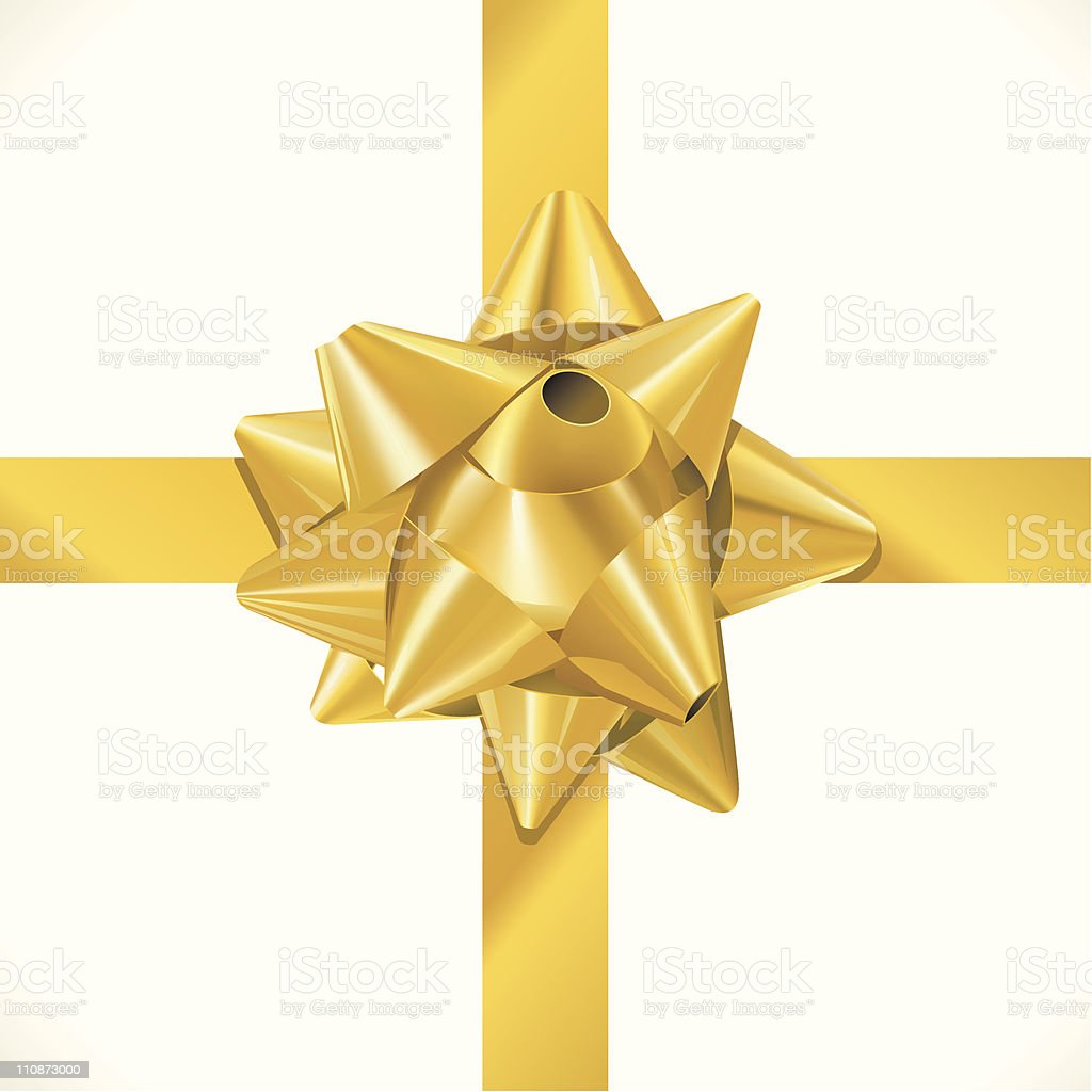 Box wrapped with Ribbon royalty-free stock vector art