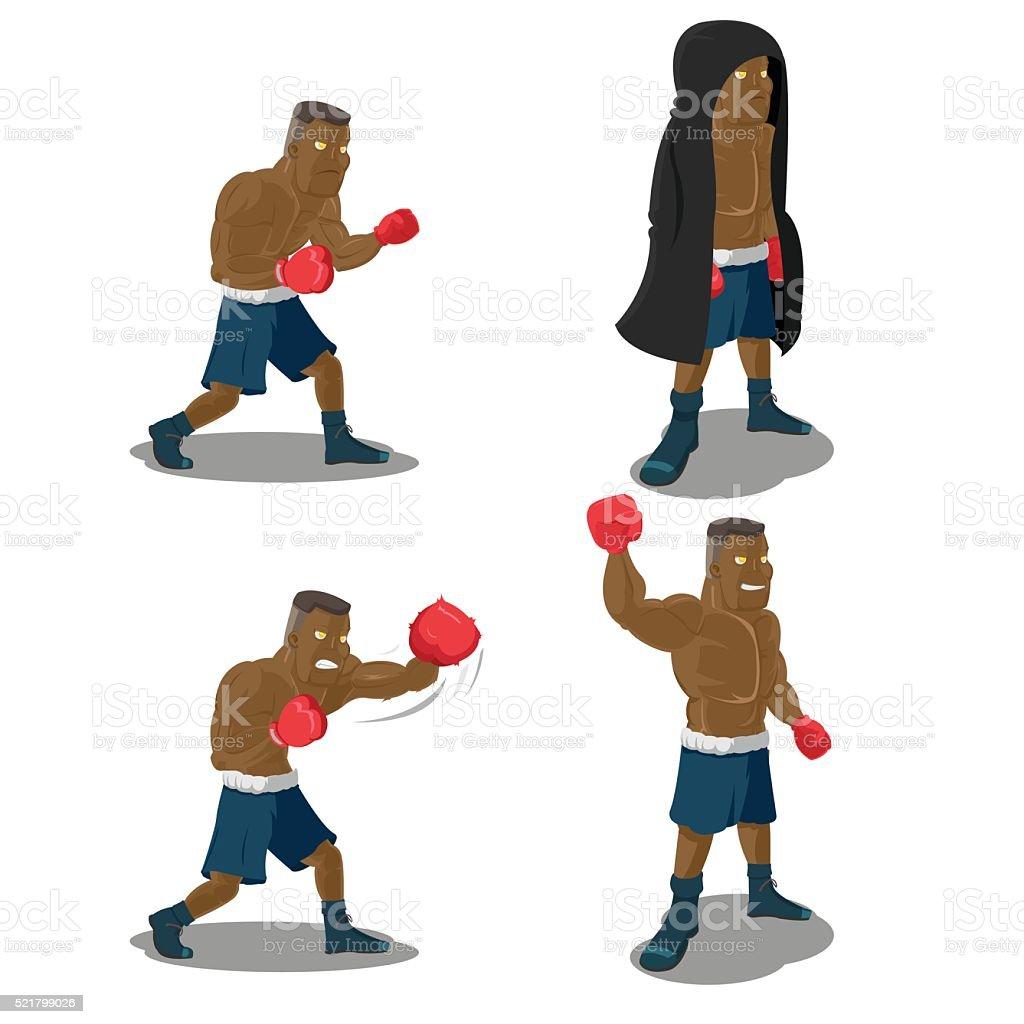 Boxer Strong Mighty Winner Sport Vector vector art illustration