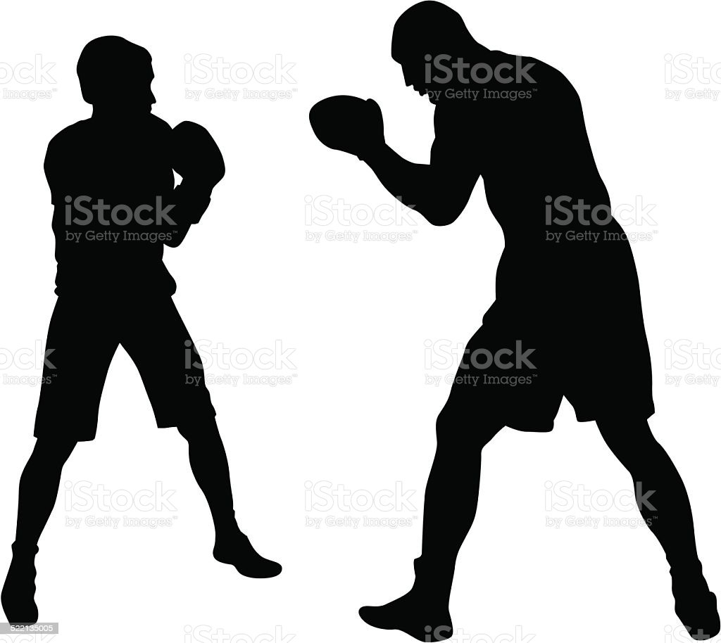 Boxer vector art illustration