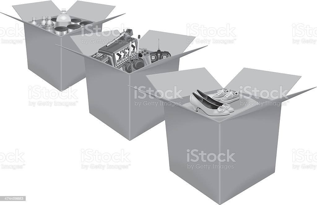 Boxes Goods royalty-free stock vector art