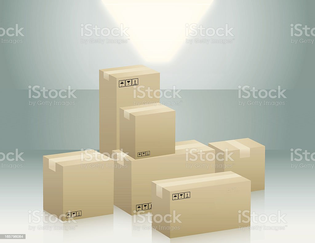 Boxes Stacked royalty-free stock vector art