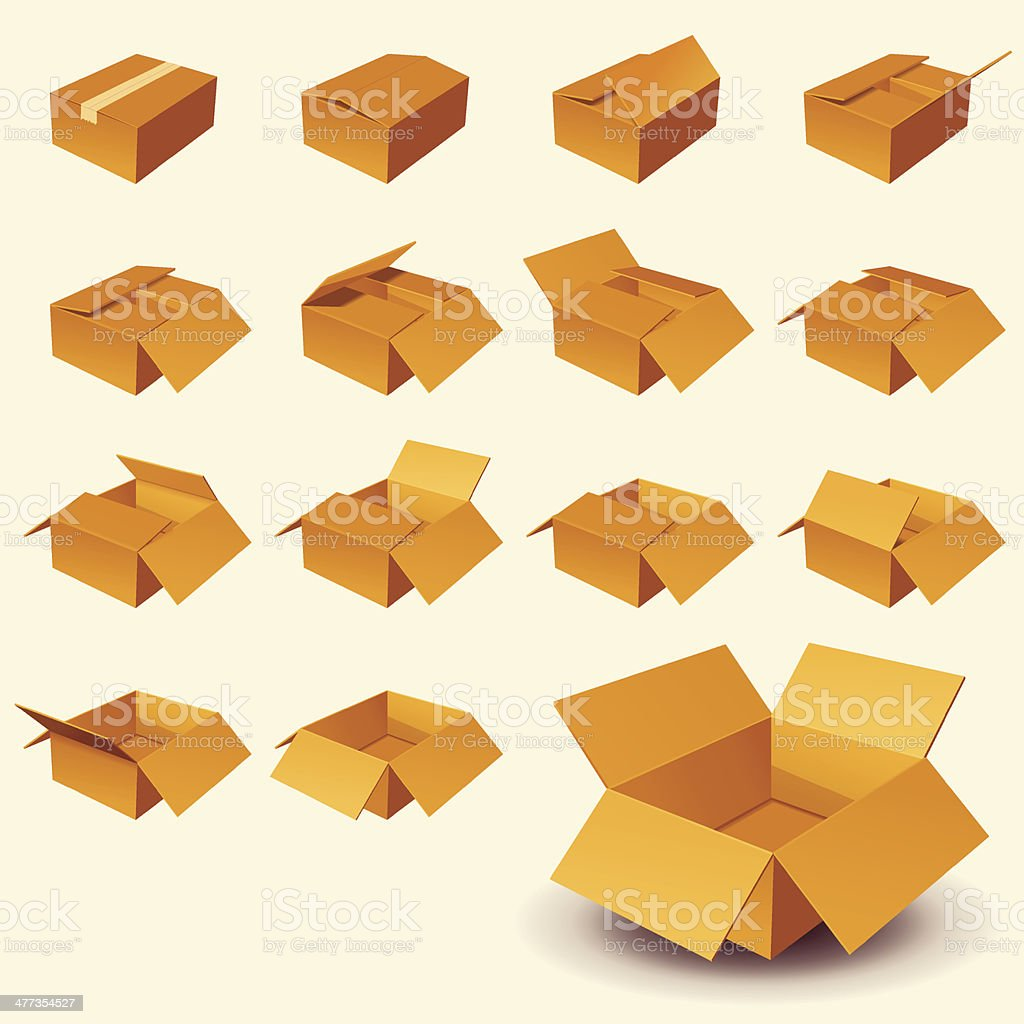 Boxes royalty-free stock vector art