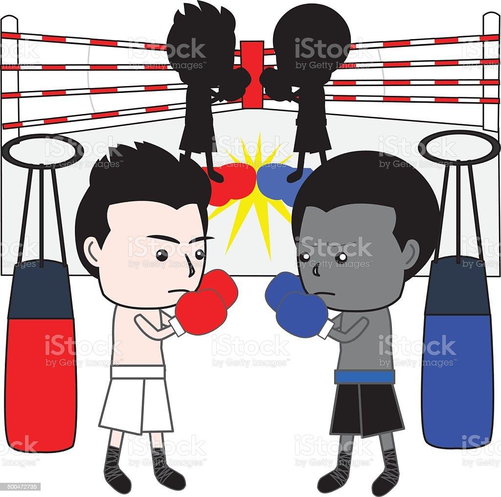 boxing cartoon vector royalty-free stock vector art