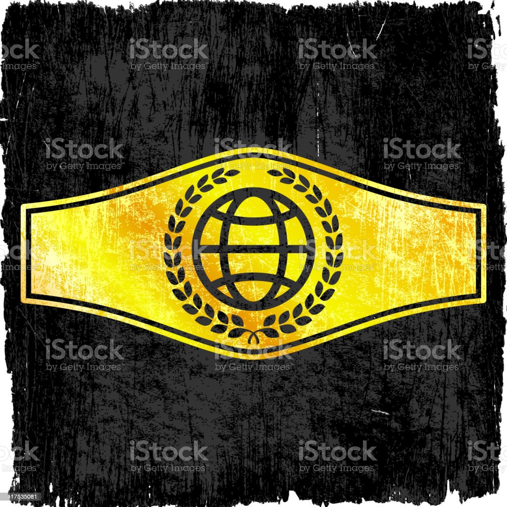 boxing championship belt royalty free vector art royalty-free vector Background vector art illustration