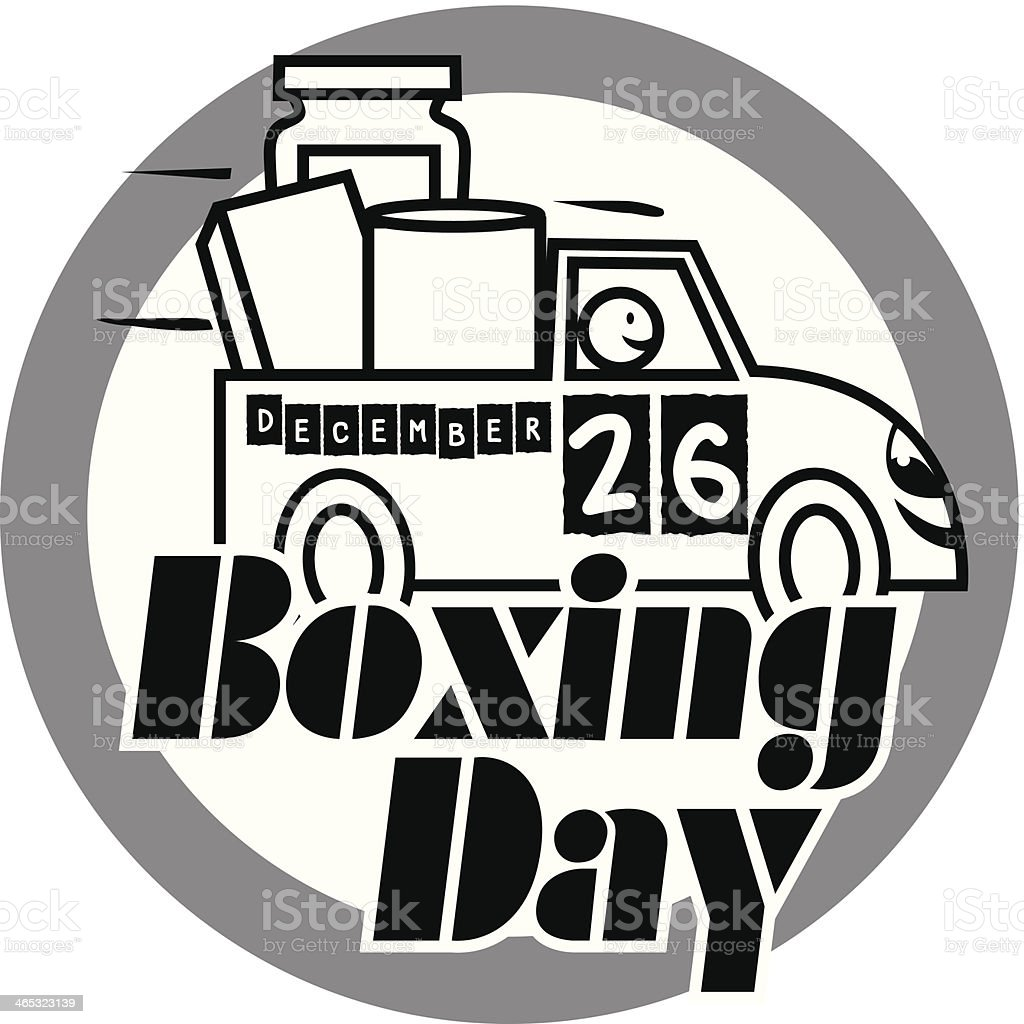 Boxing Day Heading royalty-free stock vector art