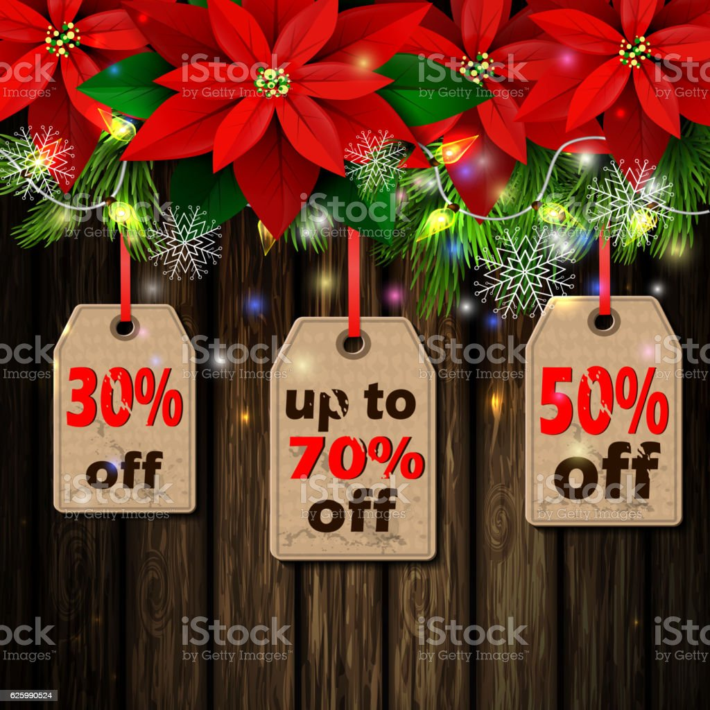 Boxing day tag vector art illustration