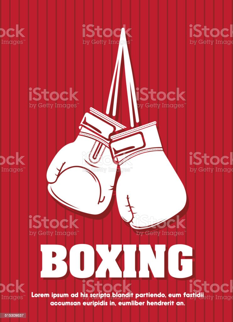boxing design vector art illustration