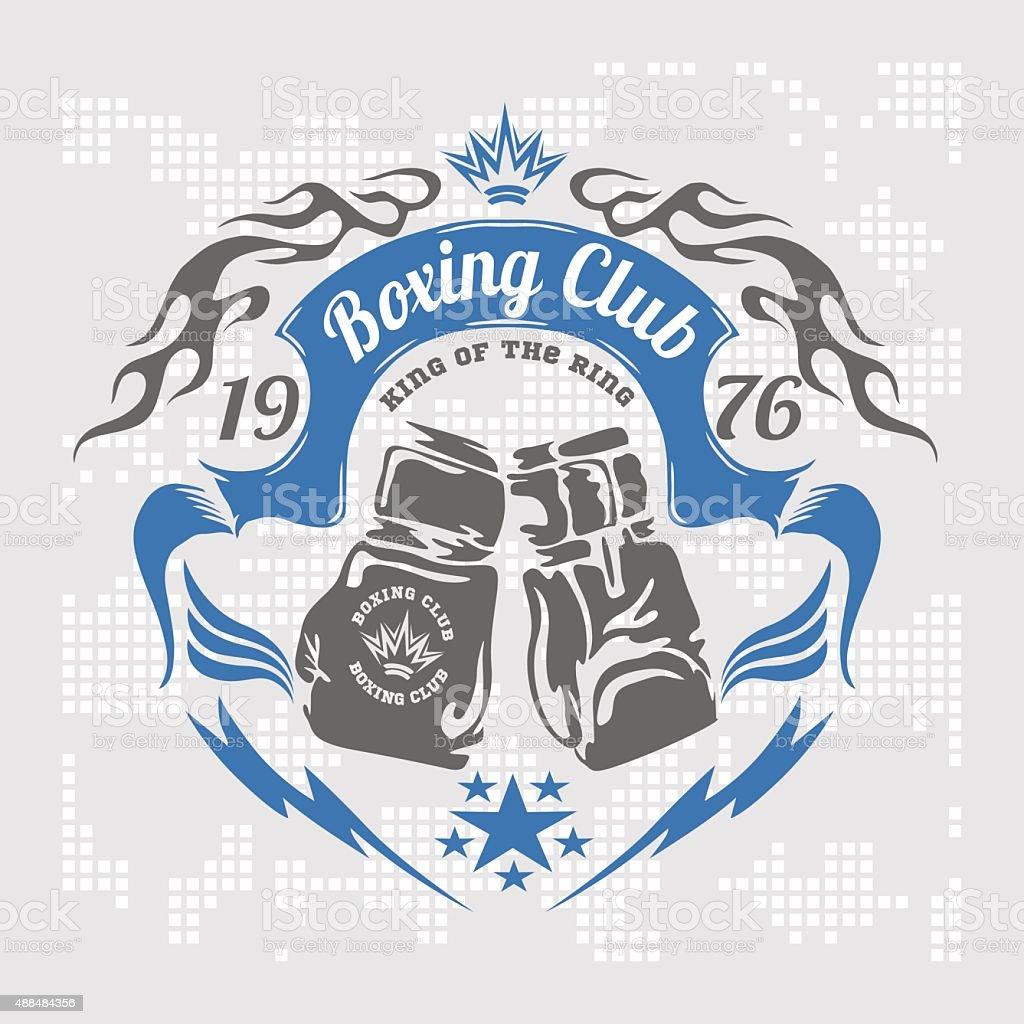 Boxing emblem. Vector stock vector art illustration