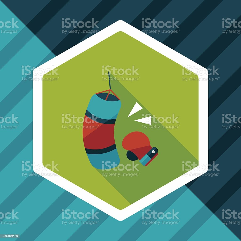 boxing flat icon with long shadow,eps10 vector art illustration